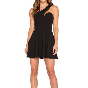 NBD Fit & Flare Dress, Black, Size (S)